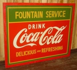 "40"" x 50"" Framed Metal Coca-Cola Sign"