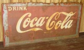 "33"" x 71"" Metal Drink Coca-Cola Sign"