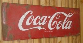 "24"" x 68"" Porcelain Coca-Cola Sign"