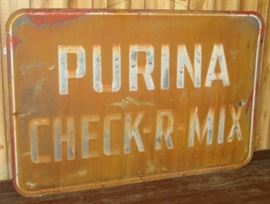 "47"" x 70"" Metal Purina Feed Sign"