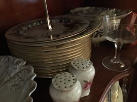 Some of dishes in China cabinet