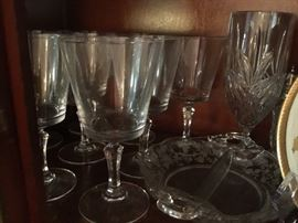 Glasses in China cabinet