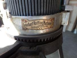 GEARHART KNITTING MACHINE / CLEARFIELD PA