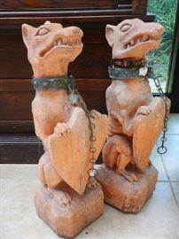 TERRA COTTA  DOGS