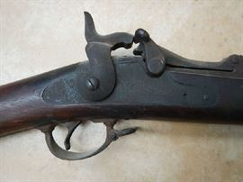 1873  TRAP DOOR SPRINGFIELD MILITARY RIFLE WITH BAYONET .45-70 CAL.