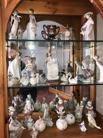 Lladro with boxes.