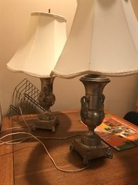 Several antique lamps.... still in working order!