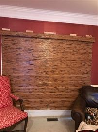 Large rattan roller shade