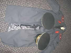 Soviet trench coat and hats (sold individually)