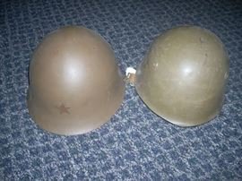 Japanese and Italian World War II helmets (sold individually)
