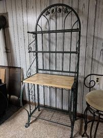 Wrought iron Baker's shelf