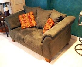 "Upholstered Love Seat 38""H x 65""W x 41""D, Includes Pillows"
