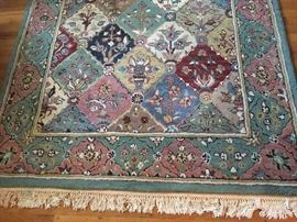 6 X 9 wool Patchwork Rug in great condition