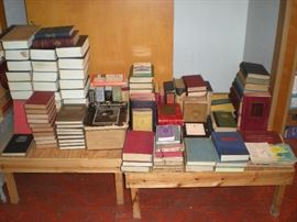 Books dating 1900-1950's.  Authors such as Hemingway, Hugo, Oscar Wild, Edgar Allan Poe, Mark Twain,  and many others.....Individual books and sets.  Price range from $2.00-$125