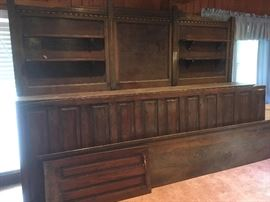10' Wayne's Coat Bar This Rear Mantle And Storage Handmade In Belle Chasse  https://www.ebay.com/itm/112959555165