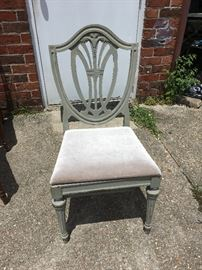 Distressed Duncan Phyfe Chair