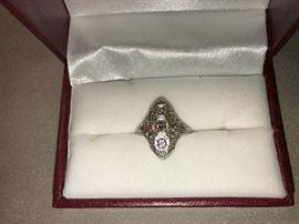 C. 1920s Platinum Set Diamond Ring