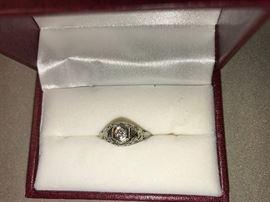 C. 1930 Diamond in 18k Gold Mounting