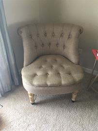 We have 2 of these chairs in like new condition!  Modern style at estate sale prices!