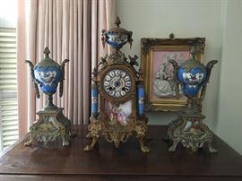 Antique clock sets