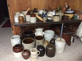 antique crocks - all sizes!