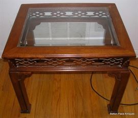 Small End Table with lattice work around sides