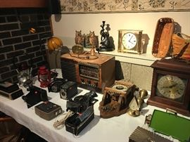 Clocks, Cameras, Tube Radio