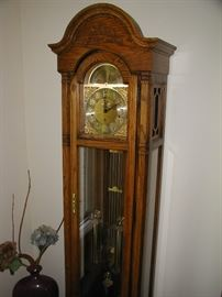Howard Miller Grandfather Clock, Excellent Working Condition.  Model # 610-259