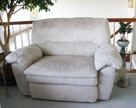 Faux suade chair and a half snuggler recliner                          BUY IT NOW  $ 165.00