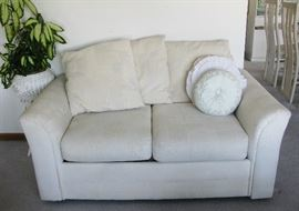 Matching off white love seat  BUY IT NOW  $ 95.00
