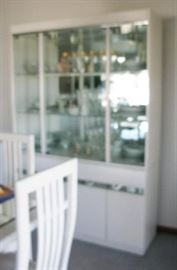 White lacquer and mirror china cabinet                                       BUY IT NOW  $ 225.00