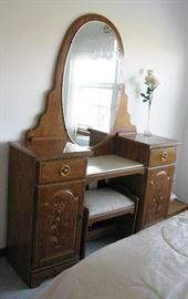 dressing table and stool      BUY IT NOW  $ 85.00