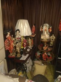 ORIENTAL DOLLS. THESE ARE UPSTAIRS