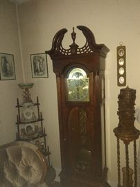GRANDFATHER CLOCK HOWARD MILLER LARGE CANDLE ON RIGHT