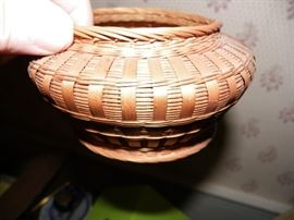 Hand woven 1800's basket.