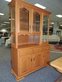 Oak Display/China Cabinet