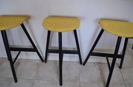 4 Bar Stools  Cushion Top