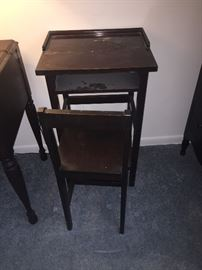 cute small antique telephone table