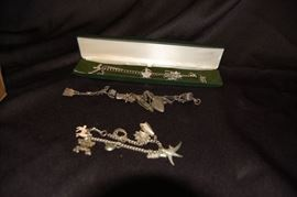 Sterling Charm Bracelets - Victorian
