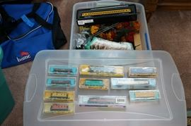 Model trains and accessories.