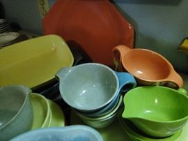 Look at these mid-century modern dishes! Brookpark Russell Wright Residential by Northern