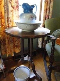 Pitcher and Bowl, Occasional Table