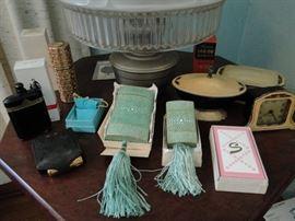 Aladdin Lamp, Art Deco Dressing Table Set, Avon Collectibles