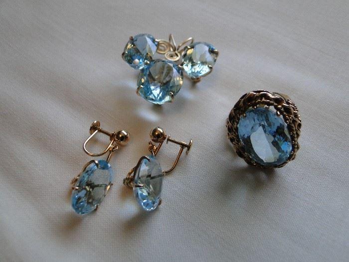 Gorgeous Blue Topaz jewelry