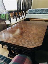 Dark wood table with leaf