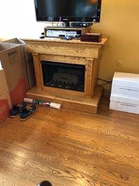 Fireplace in Oak Cabinet  $250.00