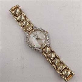 Movado diamond and 14K gold watch