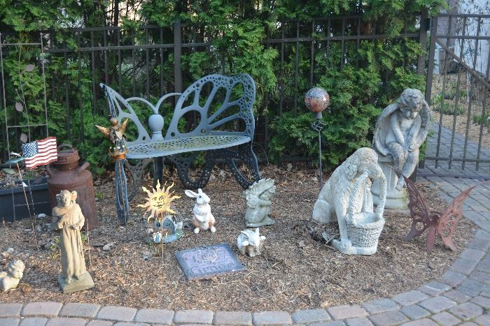 Just a small sample of many outdoor figurines. There is also a large angel fountain, bird baths, planters, etc.
