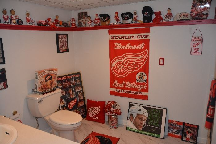 Red Wing  items, many from the Stanley Cup victories.
