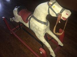 Vintage glider horse!